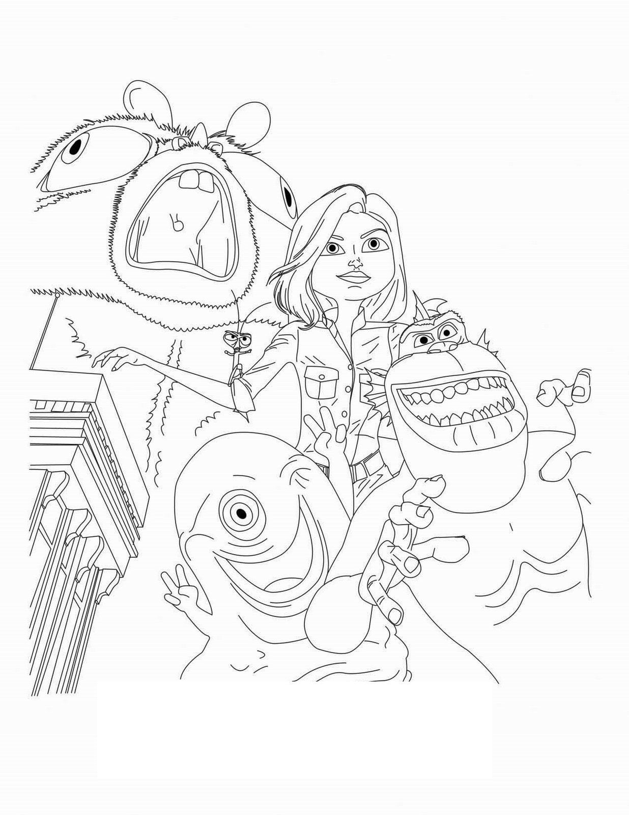 Give a like for Monsters vs Aliens. Fun coloring sheets