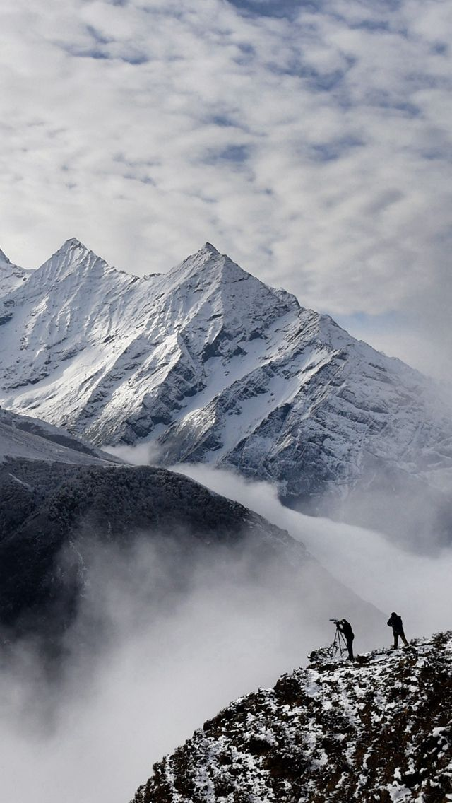 Nepal Earthquake Spark Avalanche Mountain Iphone Wallpapers Lugares