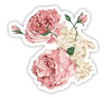 Flowers Stickers Floral Stickers Homemade Stickers Diy Stickers