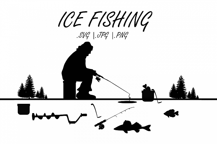 MN Ice fishing SVG, Ice fishing grahics (With images