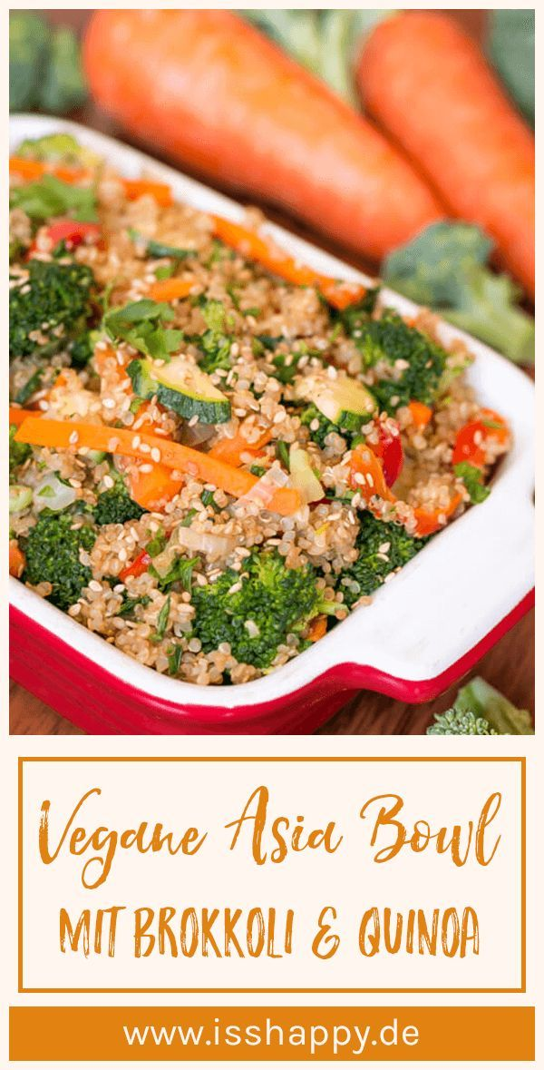 Photo of Fast asian broccoli pan with quinoa – vegan, healthy & delicious