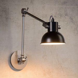 applique murale articul e en acier hauteur 35 cm noir crunch salle de bains pinterest. Black Bedroom Furniture Sets. Home Design Ideas