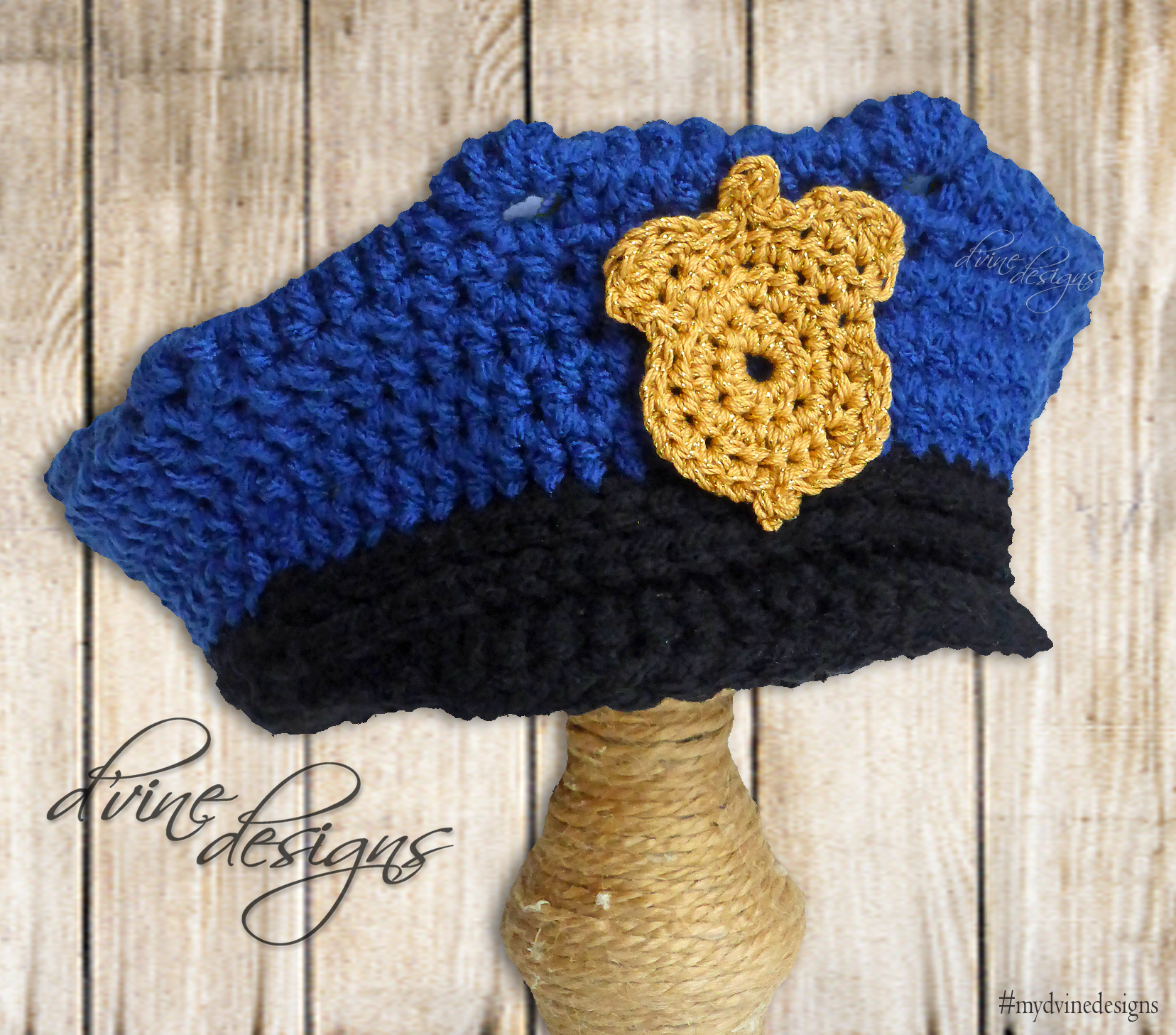 Crochet Police Hat Crochet Police badge Custom orders size newborn and up… 1cd1fdf4ebc
