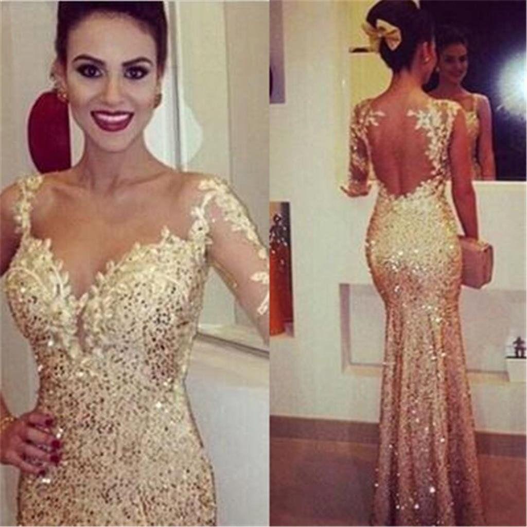 Gold prom dressessexy prom dressesmermaid prom dresseselegant