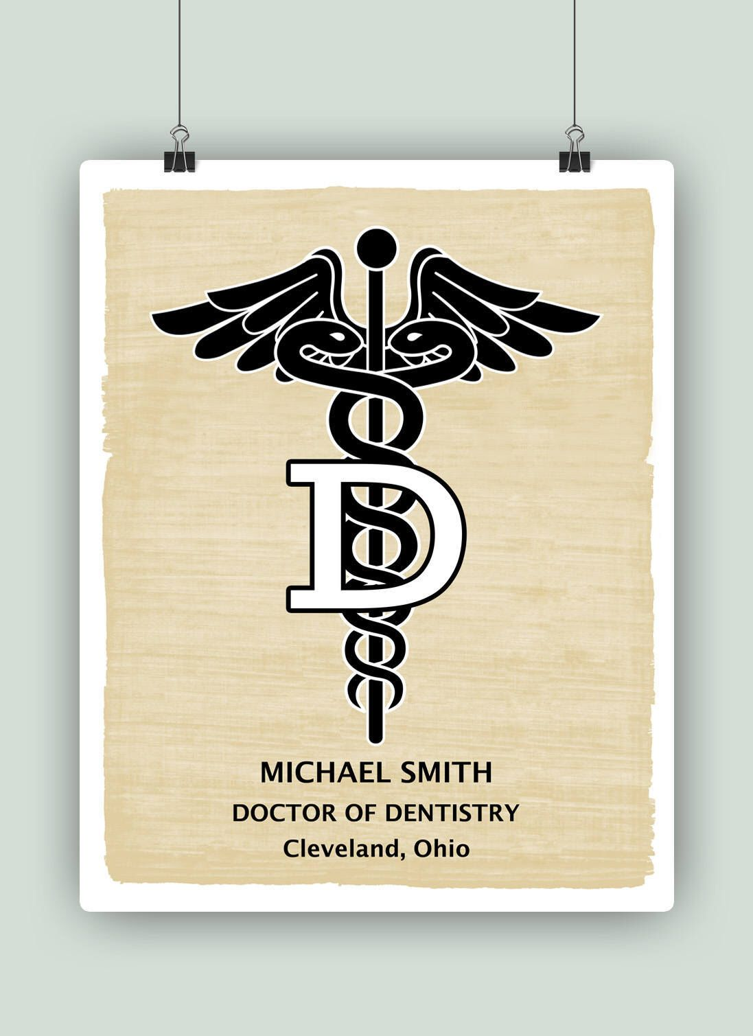 Doctor of dentistry art personalized dentist print gift