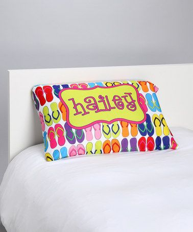 Take a look at this Flip-Flop Personalized Pillowcase by Tickled Pink NOLA on #zulily today!