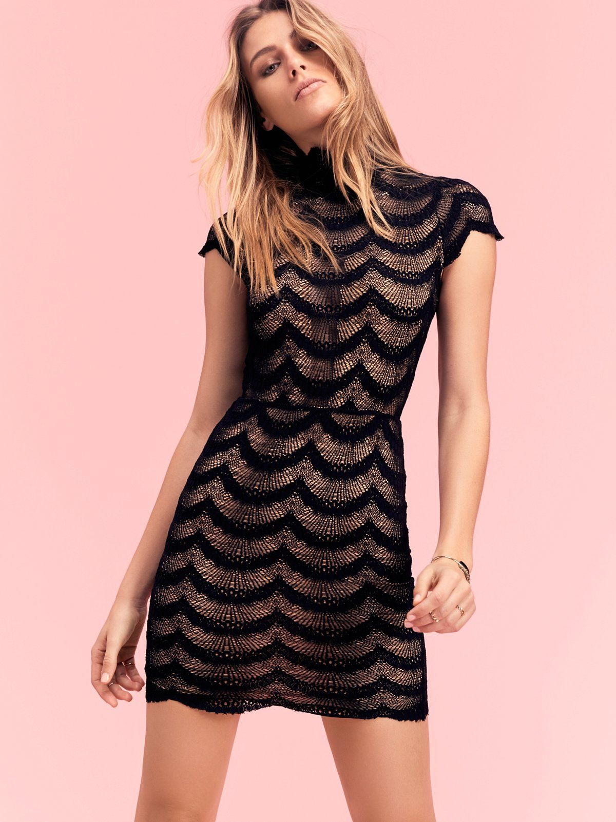 Fiesta Fan District Mini Dress | Sheer lace bodycon mini dress ...