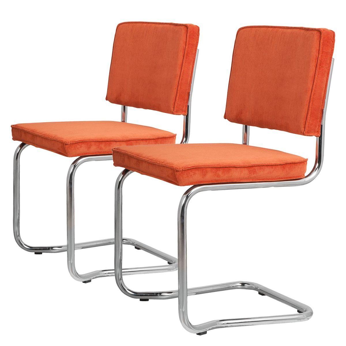 Freischwinger Ridge Kink I (2er-Set) - Cord - Orange Jetzt bestellen ...