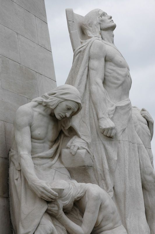 a close up of the vimy ridge memorial sympathy of the canadians a close up of the vimy ridge memorial sympathy of the canadians for the