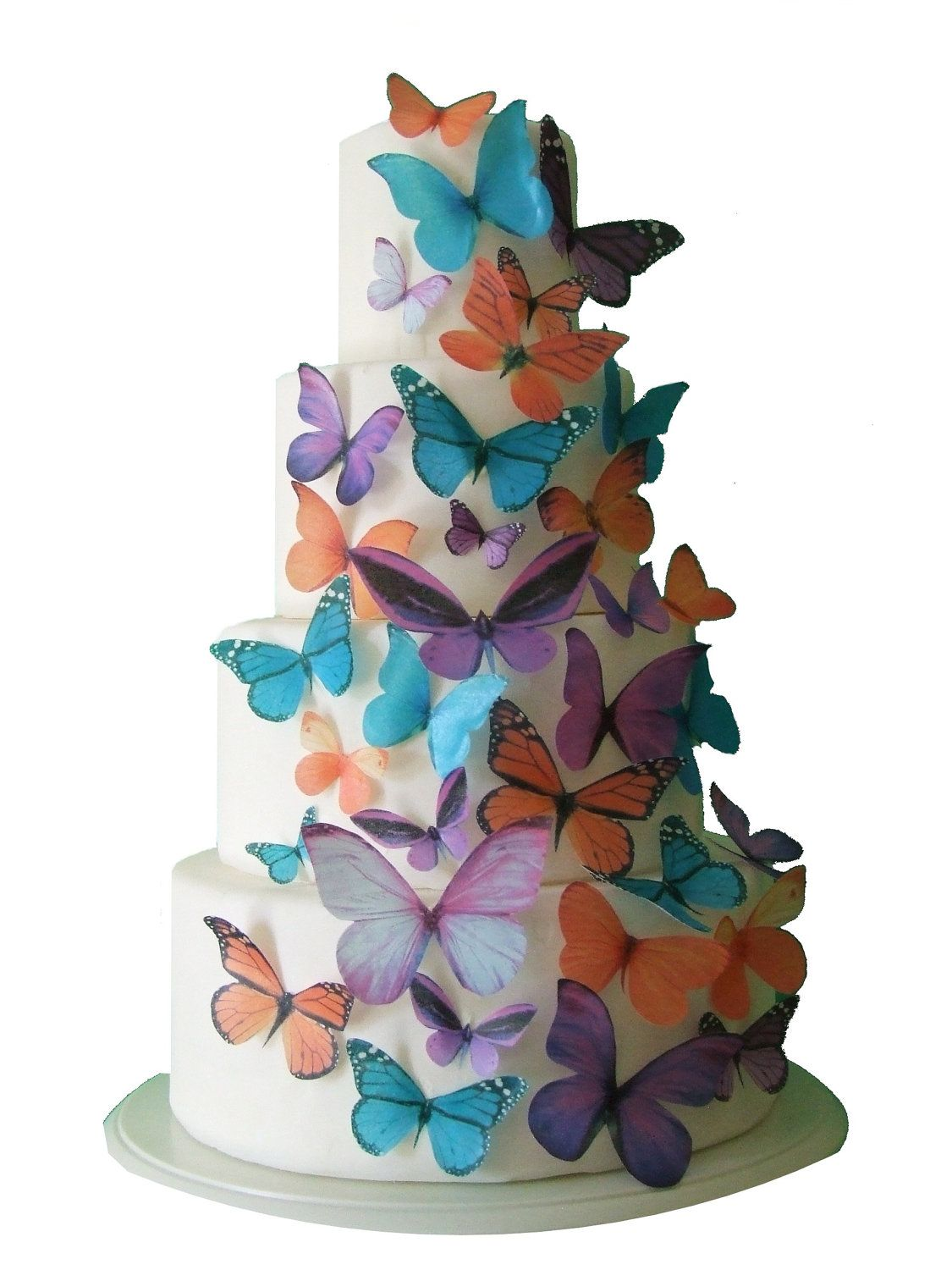 The Maddison 30 Edible Butterflies Cake Topper Cake