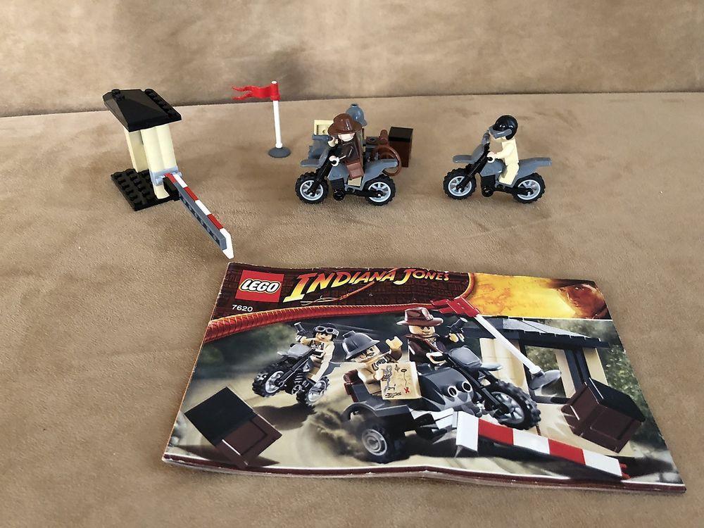 7620 Lego Indiana Jones Last Crusade Motorcycle Chase Complete