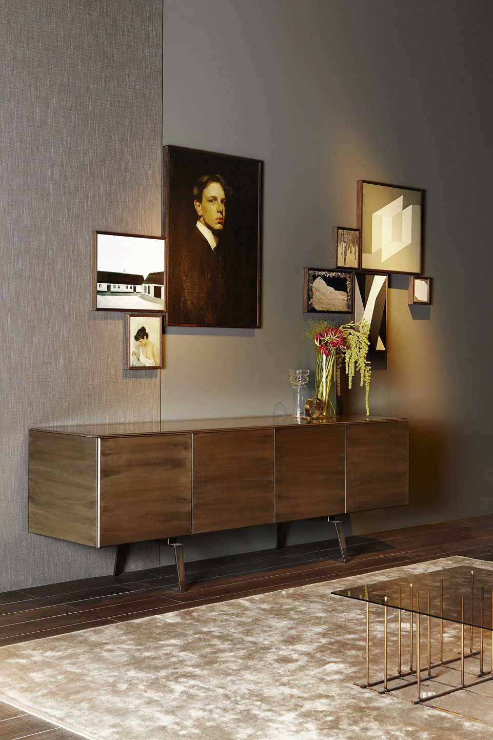 Discover All The Information About The Product Contemporary Sideboard /  Glass / Tempered Glass Facing / Metal PANDORA By Pinuccio Borgonovo ...