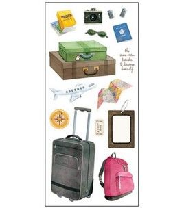 Travel Stickers: Travel & Vacation: Stickers: scrapbooking: Shop | Joann.com $1.79