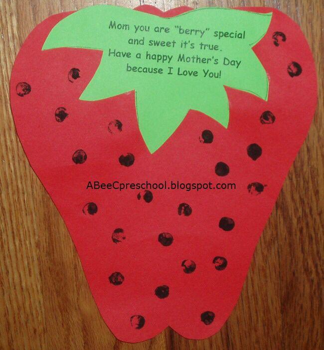 Für Kids Mütter Und Die Großen: Mother's Day Strawberry Craft