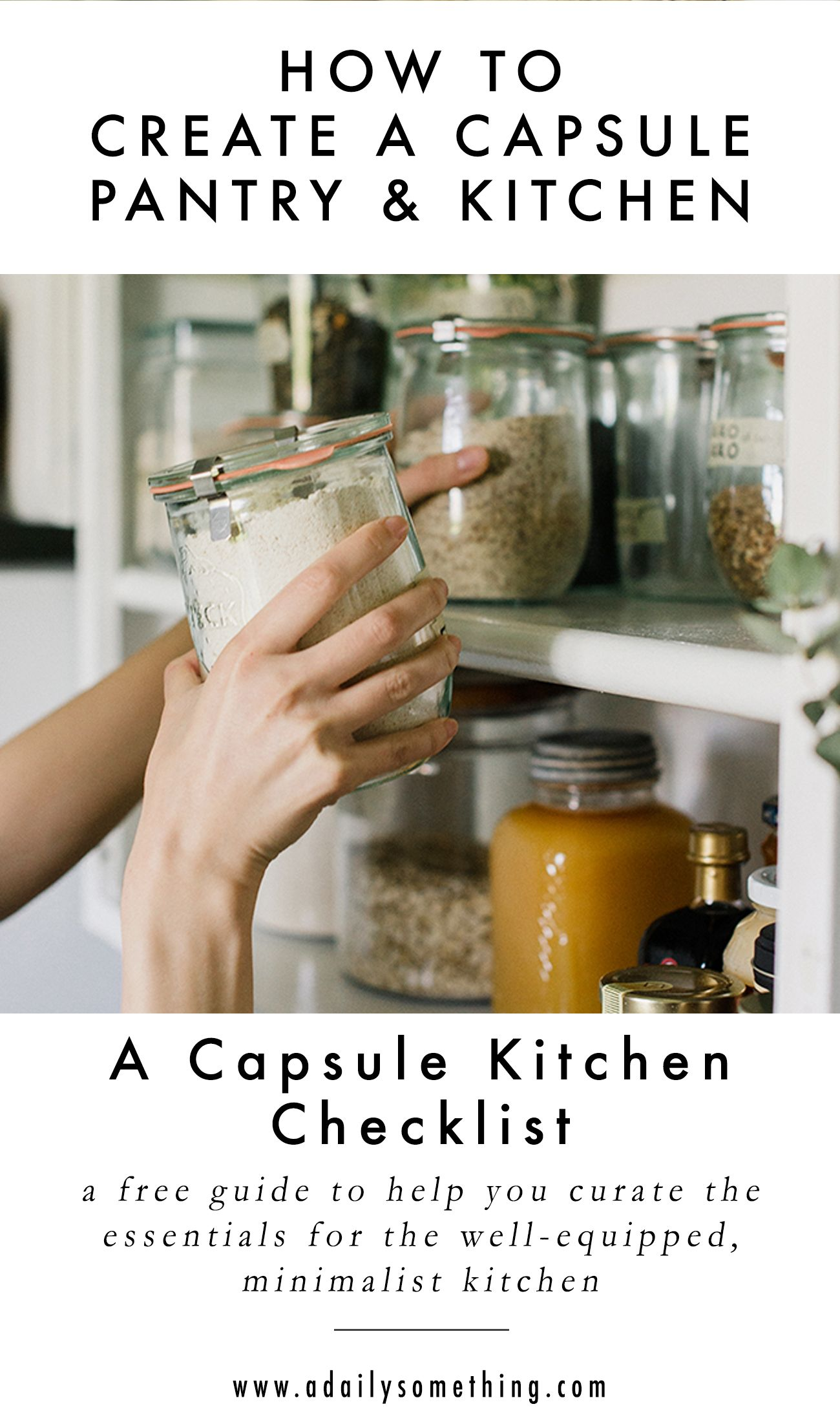A Capsule Kitchen | Essentials for the Minimalist Kitchen - A Daily Something