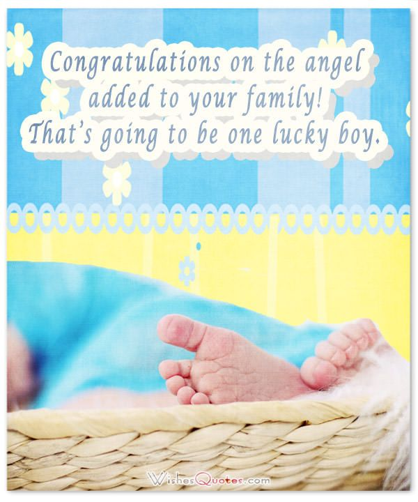 baby boy congratulation messages with adorable images wishes