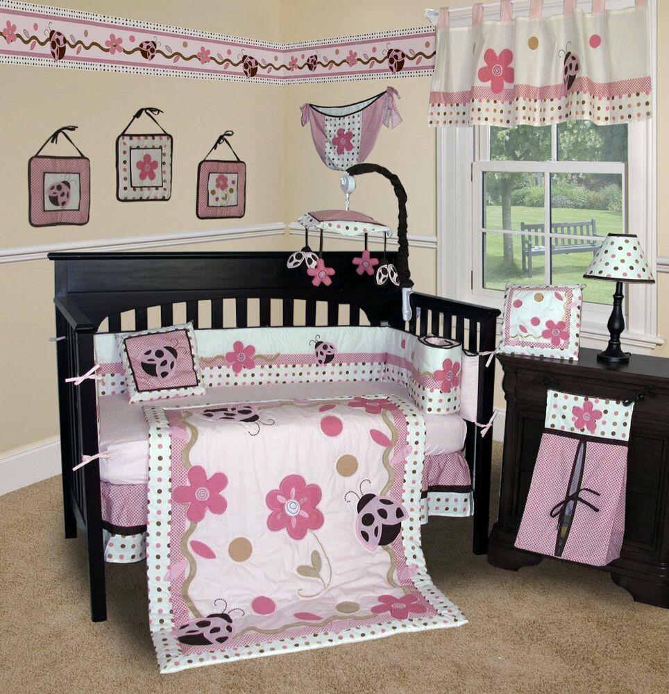 Baby Crib For Girls Girl Nursery Bedding Set Baby Crib For Girls Girl Nursery Bedding Set In 2020 Baby Bedding Sets Baby Crib Sets Baby Girl Crib Sheets