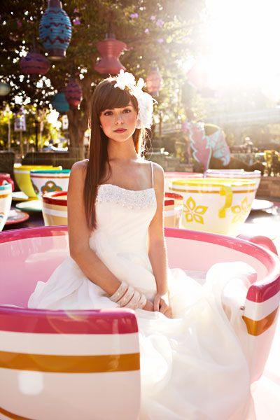 Disney Wedding Reception shot at Disneyland - Tea Cups