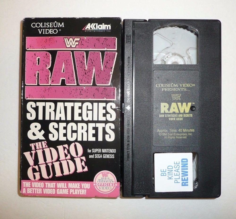 Wwf Raw Strategies And Secrets The Video Guide Vhs Tape Snes Sega Game Wrestling Sega Games Sega Video Games Sega