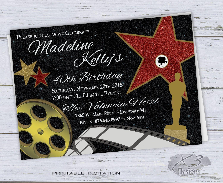 40th Birthday Invitation Printable, Sweet 16 Invitations, 30th ...