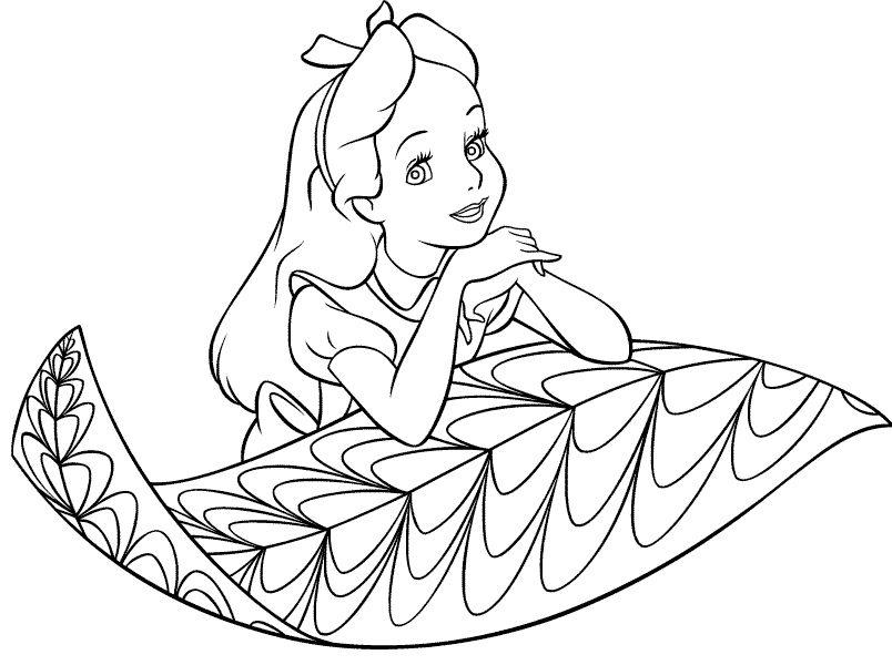 Alice In Wonderland Coloring Pages Disney | Alice in wonderland ...