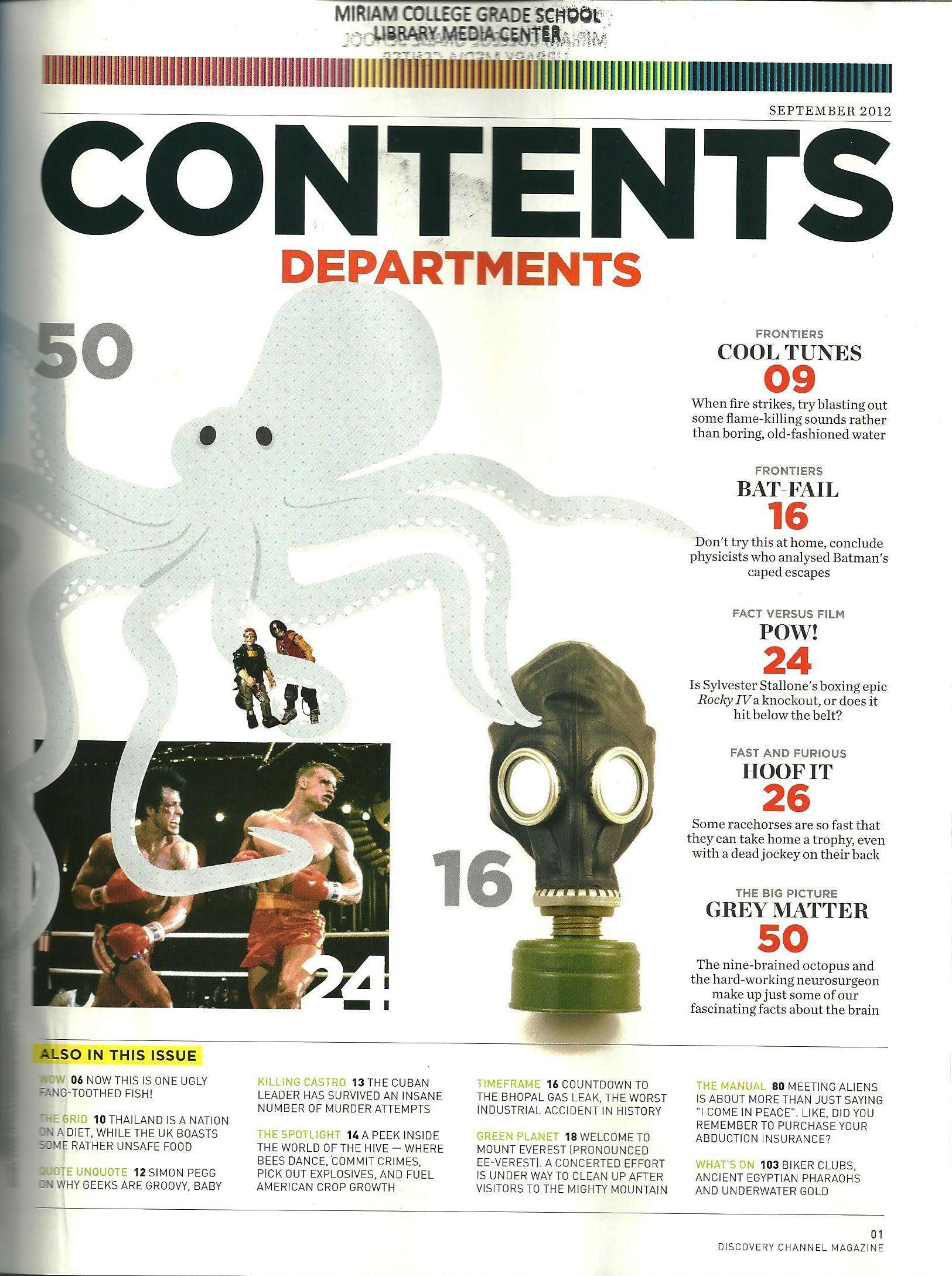 Magazine content?