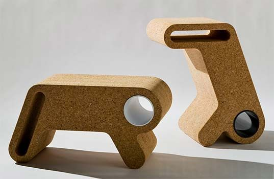 "Multitasking furniture that transitions from a coffee table to a bench to a desk with a simple flick of the wrist. Designed by UM Project, the ""Unidentified Magical Object"" is crafted almost entirely from renewable cork and even features slots for additional storage, making it a fantastically fun and versatile addition to any room. Read more: UM Project's Cork U.M.O. is a Coffee Table, Bench and Desk All in One! 