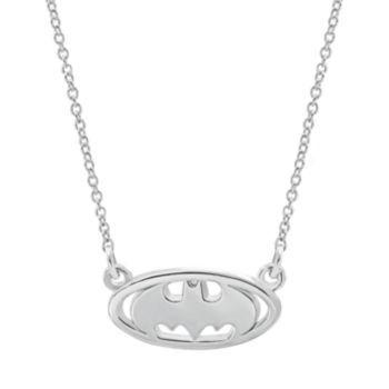 DC Comics Sterling Silver Batman Necklace