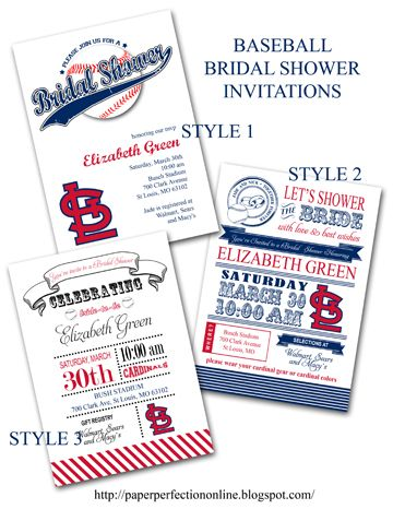 Baseball Bridal Shower Invitations My Party Printables Bridal