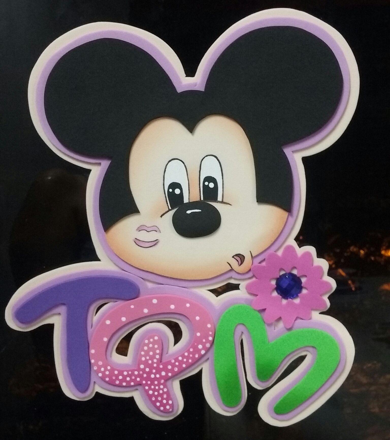 35c0e1389ea Pin TQM Mickey fomy Letreros De Amor