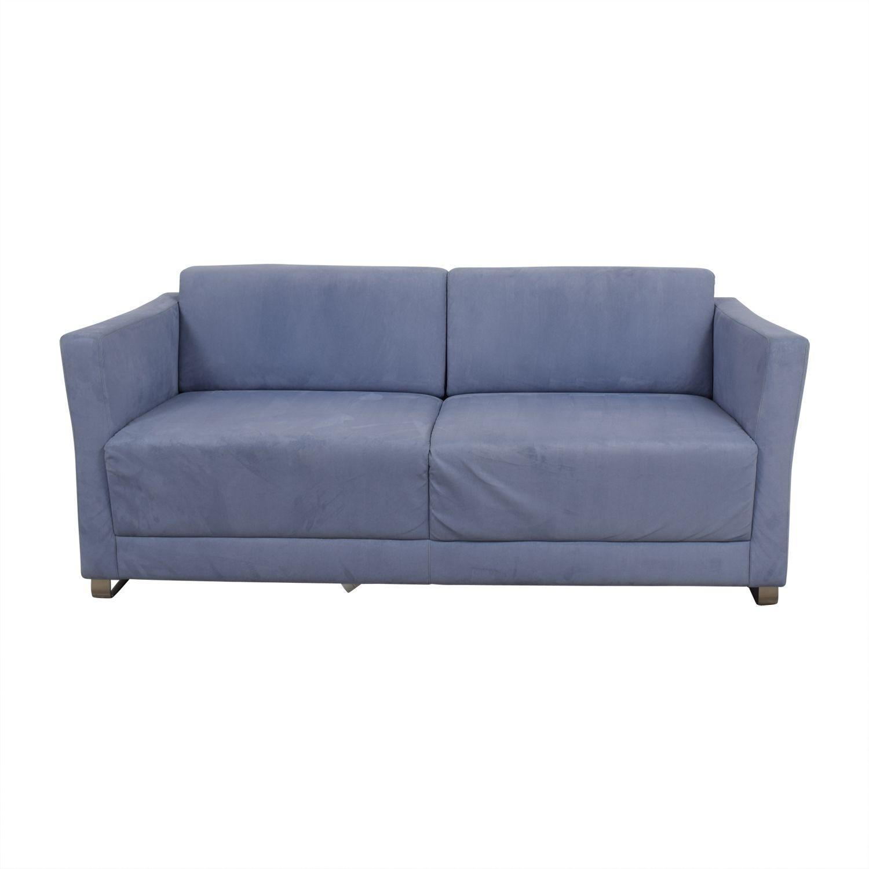 Blaues Schlafsofa In Marine Blau Leder Sofa Und Loveseat Ledersofa