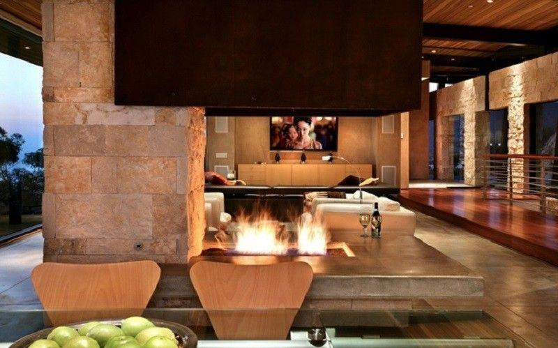 decoracin salones chimenea - Decoracion De Salones Con Chimenea