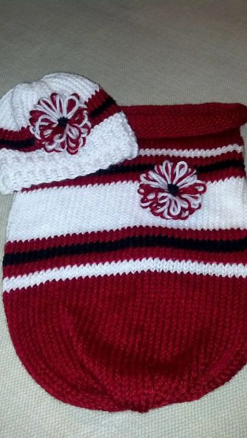Sporty Baby Cocoon and Hat pattern by Dayna Scoles   Guantes ...