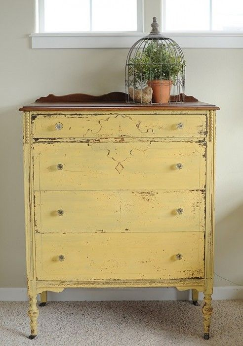 mms milk paint mustard seed yellow shabby und vintage pinterest kommode. Black Bedroom Furniture Sets. Home Design Ideas