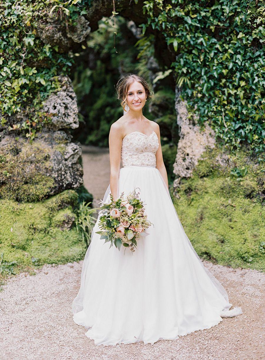 Traditional Irish Wedding with a Custom Wedding Dress