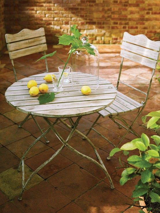 Natural Wooden Bistro Set Finally Here Is The We Have Been Searching For A Delightful Round Slatted Table And Two Chairs