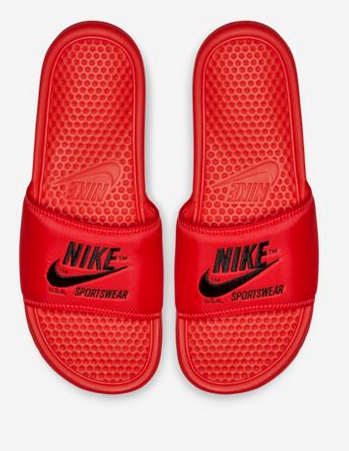 bffb30fb6f4f Dad will love these colourful Nike Benassi Just Do It Textile SE Men s  Sandals for wearing around the pool or BBQ. Available from the Nike Store  for  80.00