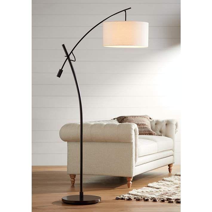 Possini Euro Bronze Finish Boom Arched Floor Lamp V2695 Lamps