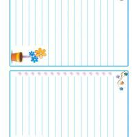 Let the kids write fun notes and letter by giving them printable stationary to use. This set features floral designs that little girls will adore.