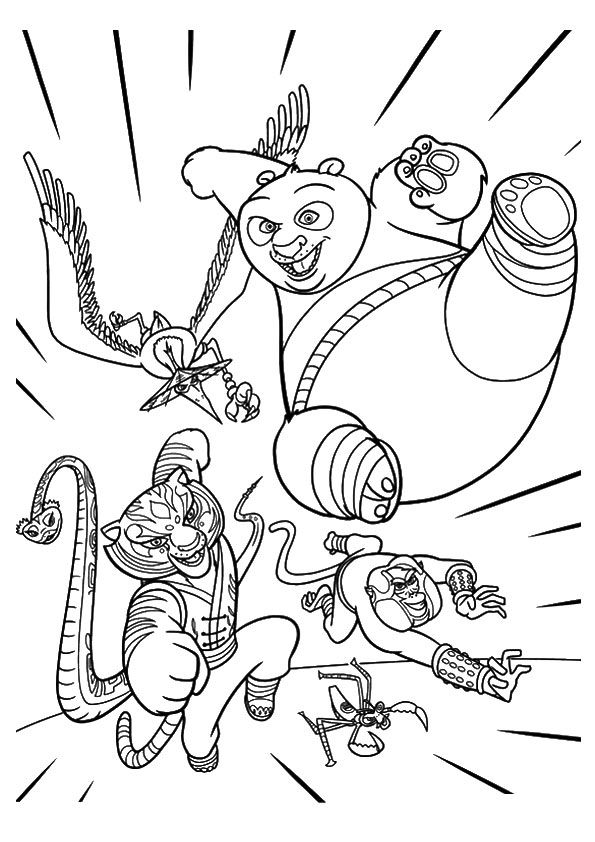 kung fu panda coloring pages print coloring image | Coloring | Panda coloring pages, Panda  kung fu panda coloring pages