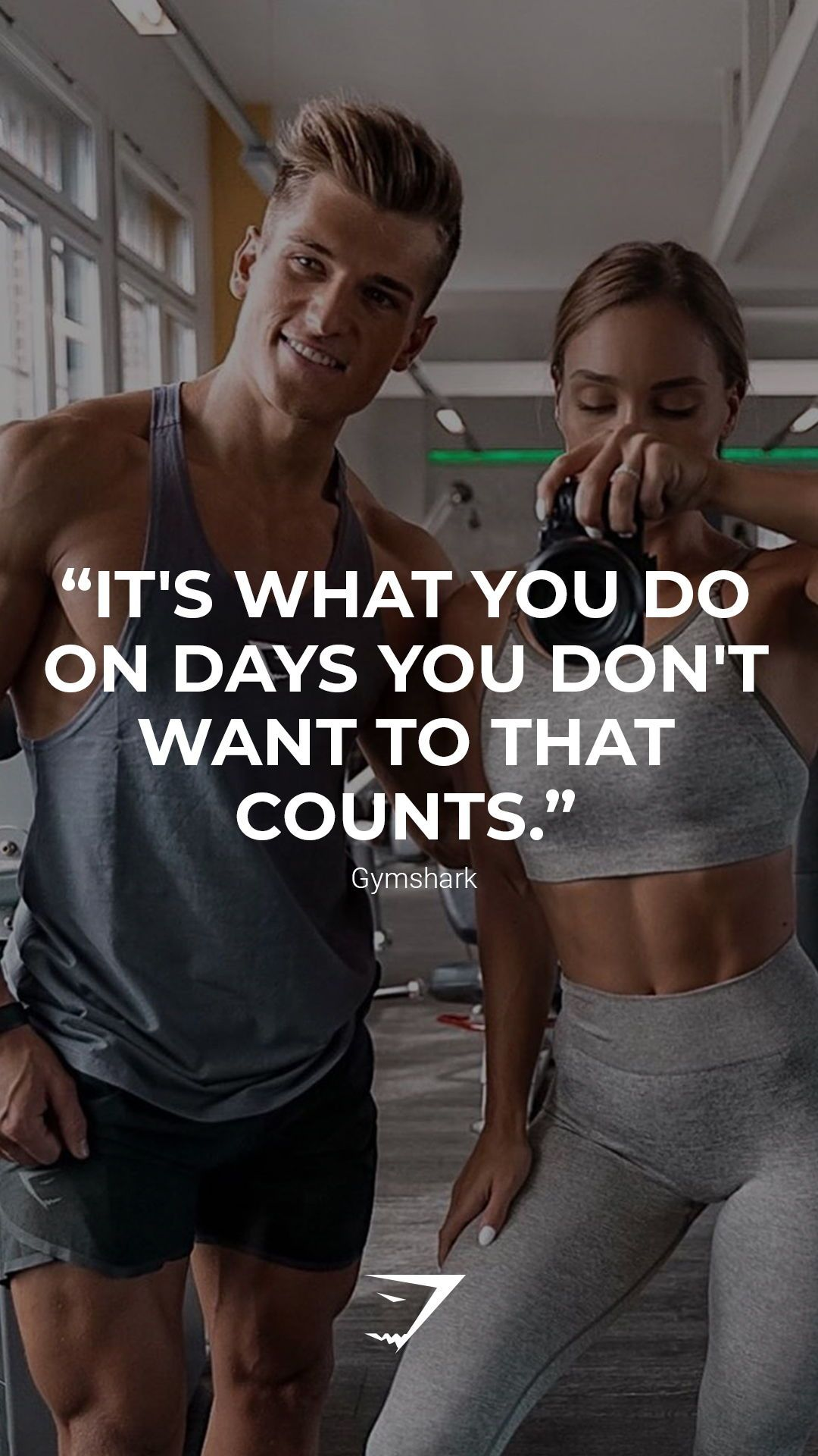 """It's what you do on the days you don't want to that counts."" - Gymshark. Save this to your motivati..."