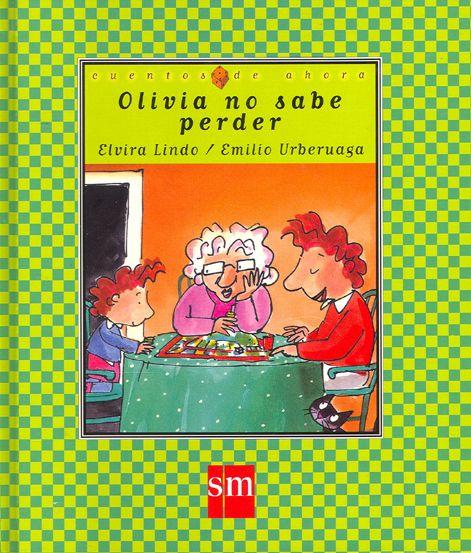 Olivia no sabe perder, un ejemplo de la serie de Olivia en la colección Cuentos de ahora. @Consuelo Puchades