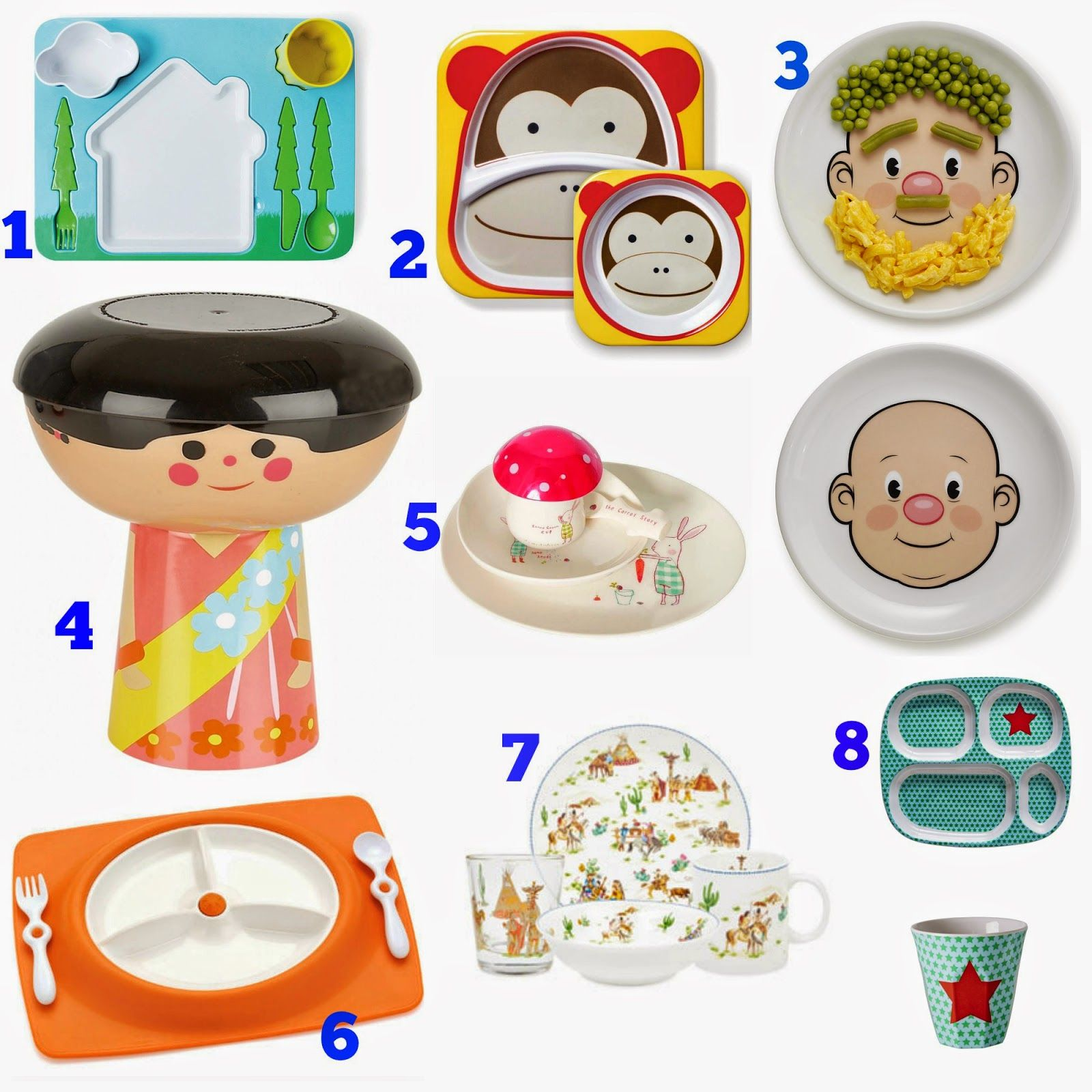 Toddler dinner plates, cool plates for kids and babies