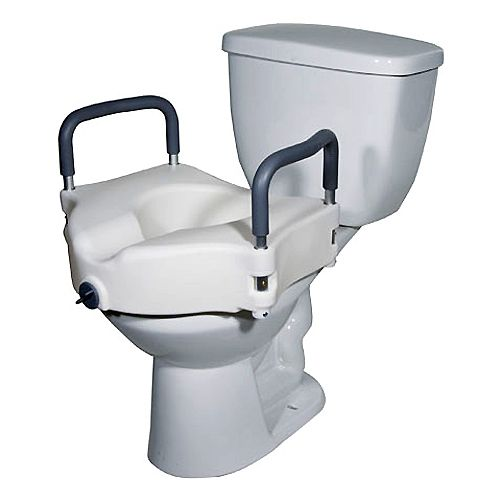 Elevated Raised Toilet Seat With Padded Arms Better Senior