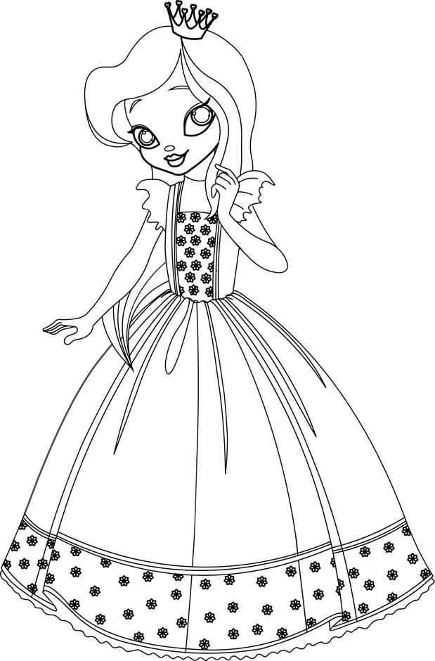 Une princesse | Coloriage, Coloriage enfant