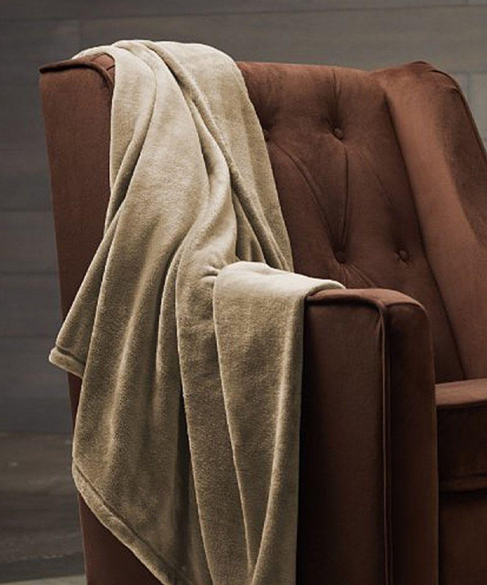Love this Ivory Supreme Velvet Plush Blanket by Spirit Linen on #zulily! #zulilyfinds
