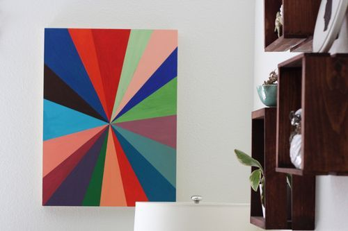 This pinwheel painting is perfect for a creative space!!