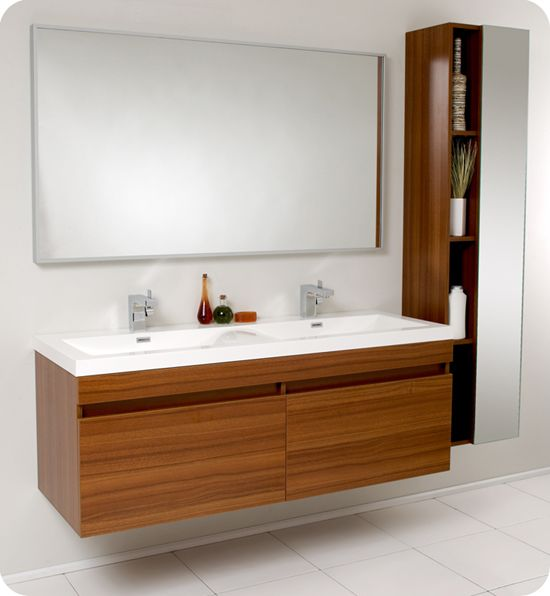Fresca Largo Teak Modern Bathroom Vanity  Galactictiles Extraordinary Bathroom Vanities Nj Decorating Inspiration