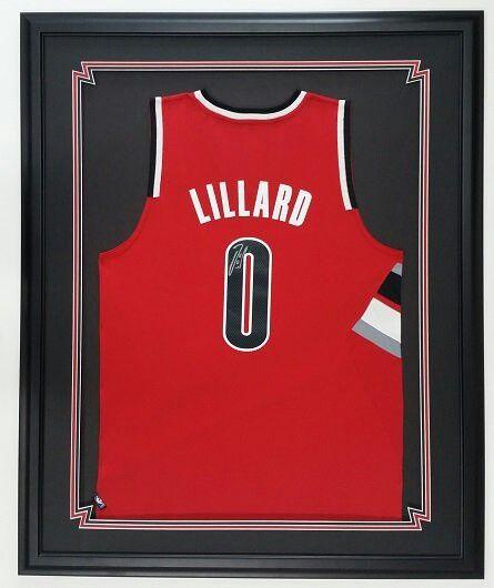 super popular 422df c9121 Autographed Damien Lillard jersey, framed at Bradshaw Frame ...
