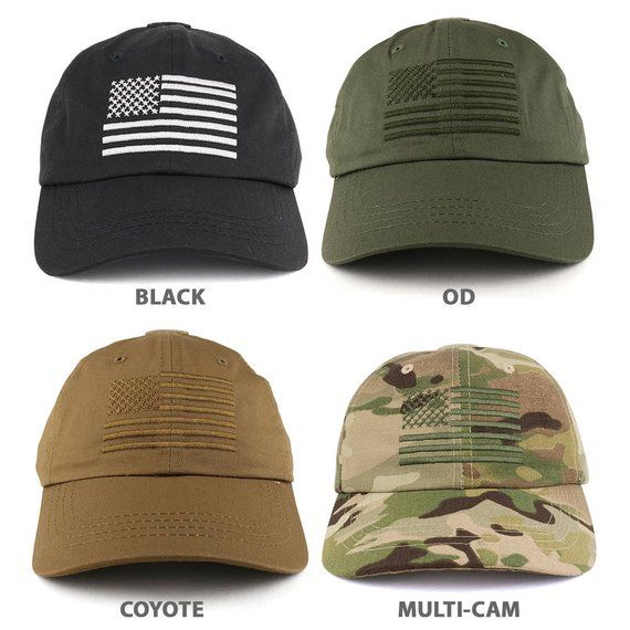Low Profile Soft Crown Tactical Operator Cap with American Embroidered Flag  (ROTHCO-FLAGCAP- c87ac99f256